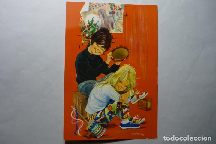 POSTAL CANTANDO NAVIDAD - C Y Z 6937 (Postales - Dibujos y Caricaturas)