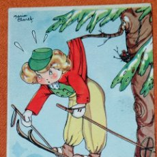 Postales: ANTIGUA TARJETA POSTAL ILUSTRADA POR MARÍA CLARET, COLECCION DE POSTALES MARI-PEPA SERIE T, N°3. Lote 194497226