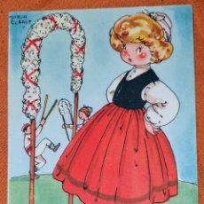 Postales: ANTIGUA TARJETA POSTAL ILUSTRADA POR MARÍA CLARET, COLECCION DE POSTALES MARI-PEPA SERIE D, N°3. Lote 194498002