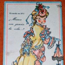 Postales: ANTIGUA TARJETA POSTAL ILUSTRADA POR MARÍA CLARET, COLECCION DE POSTALES MARI-PEPA SERIE Z, N°9. Lote 194501795