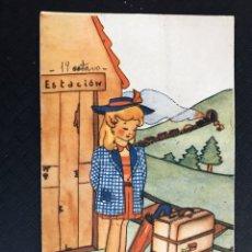 Postales: DIBUJOS Y CARICATURAS POSTAL S/1 EL QUE ESPERA DESESPERA... ILUSTRA: A. DIE, EDITA: JDP (H.1945). Lote 194543873