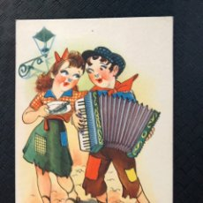 Postales: DIBUJOS Y CARICATURAS POSTAL A MAL TIEMPO, BUENA CARA...EDITA: ED. TRIO SERIE S (H.1940?) ESCRITA. Lote 194543926