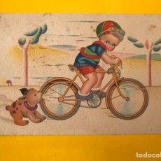 Postales: DIBUJOS Y CARICATURAS POSTAL CICLISTA...EDITA: M. ARRIBAS S/136 (H.1945?) ESCRITA. Lote 194551533