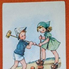 Postales: ANTIGUA TARJETA POSTAL ILUSTRADA POR E.F.R. EDITORIAL CMB SERIE N°18. ESCRITA POR LA PARTE TRASERA.. Lote 194561027