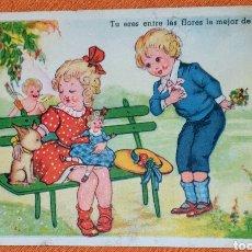 Postales: ANTIGUA TARJETA POSTAL EDICIONES -GLORIA MIL-BENISI- SERIE 103/5 ESCRITA POR LA PARTE TRASERA.. Lote 194575045