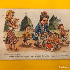Postales: DIBUJOS Y CARICATURAS. POSTAL UNA EXCURSIÓN... ILUSTRA: CELMA EDITA: DUMMATZEN S/1230. Lote 194648253