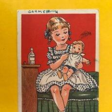 Postales: DIBUJOS Y CARICATURAS. POSTAL. MARISOL Y BOBITO. ILUSTRA:MP, EDITA: ED. BARSAL NO.10 (A.1946). Lote 194648711