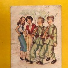 Postales: DIBUJOS Y CARICATURAS. POSTAL: COSAS DE LA MILI. EDITA: EDITORIAL ARTIGAS S/143 (A.1950) ESCRITA... Lote 194650345