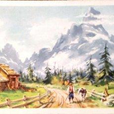 Postales: CYZ. 564 PAISAJE CON ALDEANO Y VACA. USADAA. COLOR. Lote 194663205