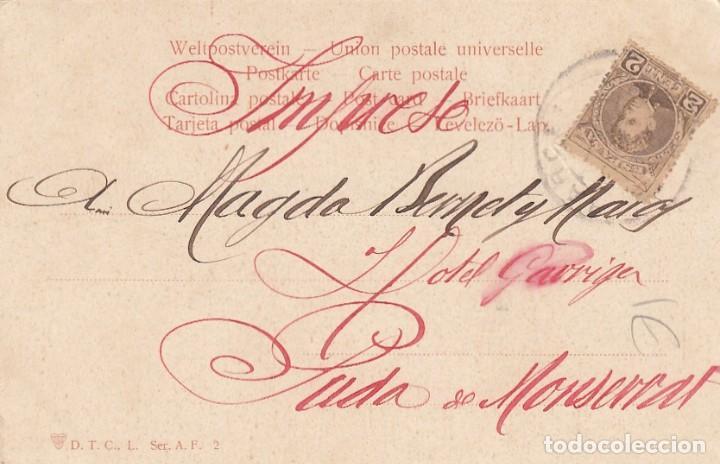 Postales: Tarjeta postal ilustrada. mujer. Circulada. - Foto 2 - 194720407