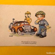 Postales: DIBUJOS Y CARICATURAS. POSTAL, EL PENSANDO...ILUSTRA: SALVADOR FARIÑAS. Lote 194720622