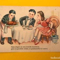 Postales: DIBUJOS Y CARICATURAS. POSTAL QUE ALEGRE ES.... ILUSTRA: ZSOLT EDITA:CMB SERIE 103 (H.1945?). Lote 194721536