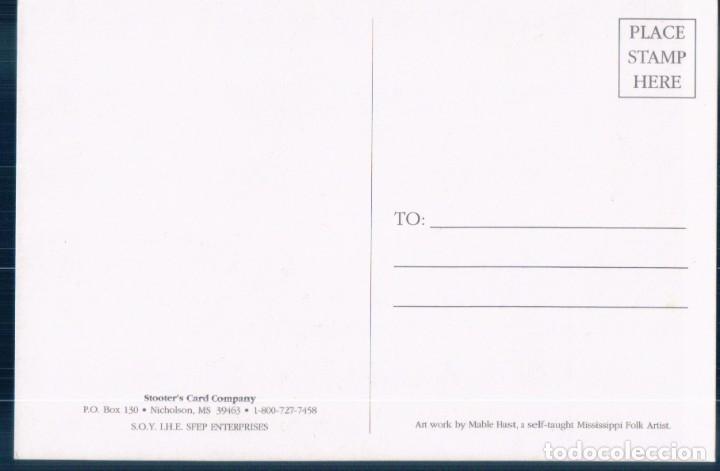 Postales: POSTAL DIBUJO FLOR BLANCA - COTTON FLOWER - ILUTRADA M G HUST - FIRMADA - Foto 2 - 194757431