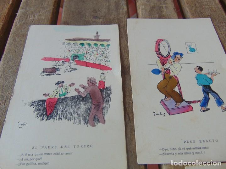 Postales: TARJETA POSTAL LOTE DE 5, CHISTES Y CARICATURAS EDICIONES VANDALIA SEVILLA AÑOS 40 - Foto 2 - 194774323