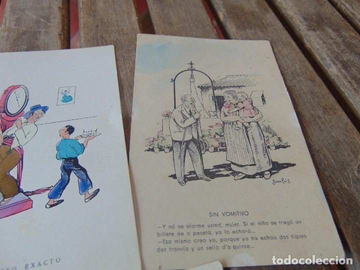 Postales: TARJETA POSTAL LOTE DE 5, CHISTES Y CARICATURAS EDICIONES VANDALIA SEVILLA AÑOS 40 - Foto 3 - 194774323