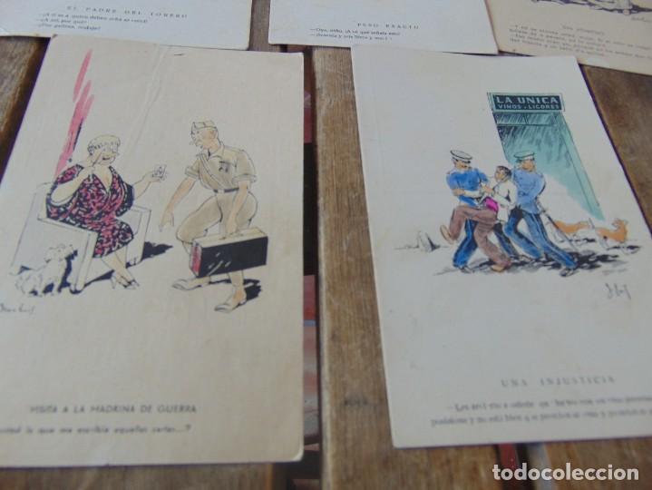 Postales: TARJETA POSTAL LOTE DE 5, CHISTES Y CARICATURAS EDICIONES VANDALIA SEVILLA AÑOS 40 - Foto 4 - 194774323