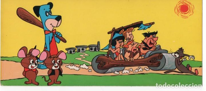POSTAL INFANTIL- PICAPIEDRAS - FLINTSTONES - EDICIONES FHER - 23.5 CM X 11.5 CM - AÑO 1965 - Nº 801 (Postales - Dibujos y Caricaturas)