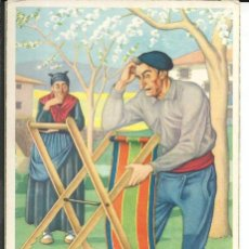 Postales: POSTAL ILUSTRADA POR JOSE ARRUE - TIPOS VASCOS - MOD. 108 - AÑO 1959. Lote 194977893