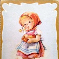 Postales: CYZ. 521/B NIÑA DANDO COMIDA A PATITOS. USADA. COLOR. Lote 195064582