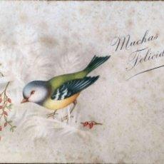 Postales: CYZ. 553 PAJARITO. USADA. COLOR. MANCHAS DEL TIEMPO. Lote 195064662