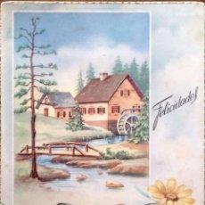 Postales: CYZ. 507/A PAISAJE CON NORIA Y MARGARITAS. USADA. COLOR. Lote 195064668