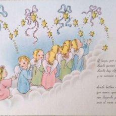 Postales: ANGELES YENDO EN FILA. CASA BAÑERES. NUEVA. COLOR. Lote 195064673