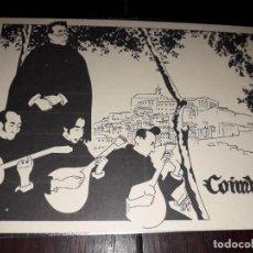 Postales: Nº 36088 POSTAL COIMBRA PORTUGAL SERENATA NO CHOUPALINHO FERNANDO DORES. Lote 195075307