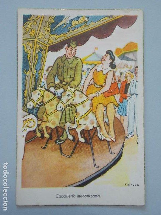 POSTAL MILITAR - ILUSTRADOR OPISSO - SERIE 103 - CABALLERIA MECANIZADA - SIN CIRCULAR... L703 (Postales - Dibujos y Caricaturas)