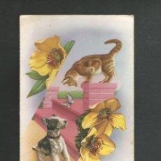 Postales: POSTAL CIRCULADA DIBUJO ANIMALES EDITA BARCO 305. Lote 195188057