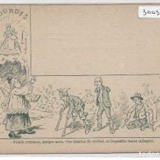 Postales: SÁTIRA ANTICLERICAL - CON LISIADOS DE VERDAD ES IMPOSIBLE HACER MILAGROS - P30059. Lote 195216286