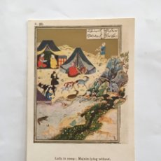 Postales: POSTAL. LAILA IN CAMP; MAJNUN IYING WITHOUT. BRITISH MUSEUM. PRINTED AT THE OXFORD UNIVERSITY PRESS. Lote 195359585