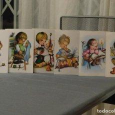 Postales: 6 POSTALES NIÑOS Y NIÑAS, PROFESIONES. G.F.G. EDITOR 1979. INF. 2 FOTOS.. Lote 195432220