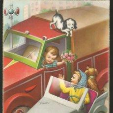 Postales: POSTAL NIÑOS EN BISCUTER - EDIC. ANCORA 2310-B - 1962. Lote 195683005