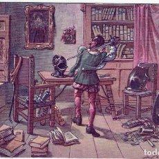 Postales: DON QUIJORTE DE LA MANCHA, NR.2, PRUEBA DE LAS ARMAS , EDIT.AMBOS MUNDOS, IMP-VIUDA DE TASSÓ, S/C.. Lote 198339718