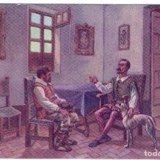 Postales: DON QUIJORTE DE LA MANCHA, NR.4, SANCHO PANZA ESCUDERO , EDIT.AMBOS MUNDOS, IMP-VIUDA DE TASSÓ, S/C.. Lote 198339977