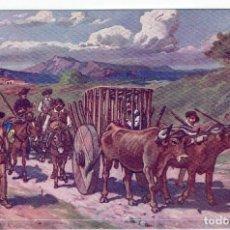 Postales: DON QUIJORTE DE LA MANCHA, NR.13, ENCANTAMIENTO DE DON QUIJOTE, EDT. AMBOS MUNDOS. Lote 198341361