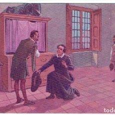 Postales: DON QUIJORTE DE LA MANCHA, NR.14, EL BACHILLER SANSÓN CARRASCO, EDT. AMBOS MUNDOS. Lote 198341506