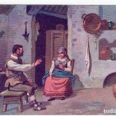 Postales: DON QUIJORTE DE LA MANCHA, NR.15, PLATICA ENTRE SANCHO PANZA Y SU MUJER, EDT. AMBOS MUNDOS. Lote 198341657