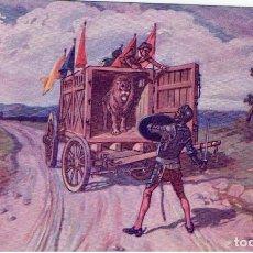 Postales: DON QUIJORTE DE LA MANCHA, NR.18, AVENTURA DE LOS LEONES, EDT. AMBOS MUNDOS. Lote 198341766