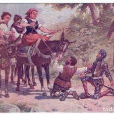 Postales: DON QUIJORTE DE LA MANCHA, NR.16, DULCINEA ENCANTADA, EDT. AMBOS MUNDOS. Lote 198342317