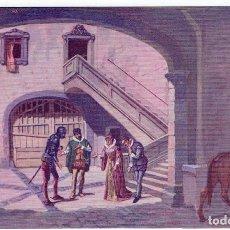 Postales: DON QUIJORTE DE LA MANCHA, NR.19, EN CASA DEL CABALLERO DEL VERDE GABÁN, EDT. AMBOS MUNDOS. Lote 198342966