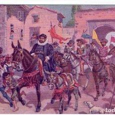 Postales: DON QUIJORTE DE LA MANCHA, NR.21, SANCHO PANZA TOMA POSESION DE LA INSULA BARATARIA, . AMBOS MUNDOS. Lote 198343890