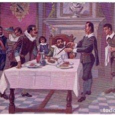 Postales: DON QUIJORTE DE LA MANCHA, NR.22, SANCHO Y EL DOCTOR RECIO, . AMBOS MUNDOS. Lote 198344011
