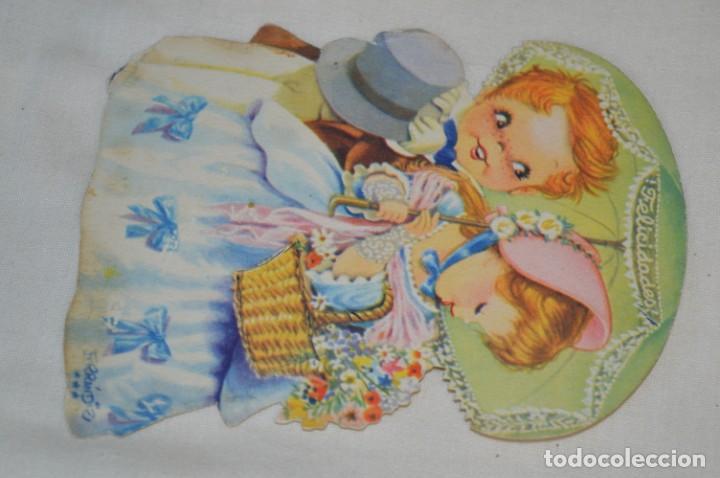 Postales: 2 Antiguas postales / Troqueladas de FERRÁNDIZ - CIRCULADAS - Originales ¡Mira! - Foto 3 - 198638290