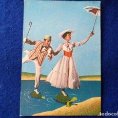 Postales: POSTAL DE LA PELÍCULA MARY POPPINS DE WALT DISNEY. AÑO 1964. EDICIONES TARJE-FHER.. Lote 198921461