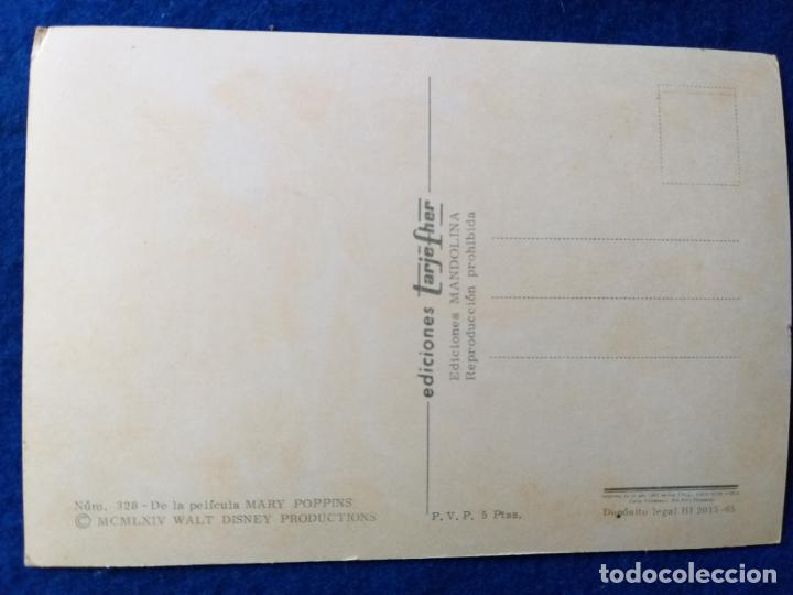 Postales: POSTAL DE LA PELÍCULA MARY POPPINS. DE WALT DISNEY. TARJEFHER # 328. - Foto 2 - 198921597