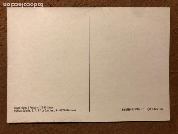 Postales: VELVET NIGHTS, POR SENTO. CARPETA CON SERIE COMPLETA 6 POSTALES. NORMA EDITORIAL (1985). - Foto 12 - 199335167