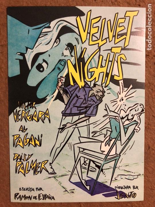 Postales: VELVET NIGHTS, POR SENTO. CARPETA CON SERIE COMPLETA 6 POSTALES. NORMA EDITORIAL (1985). - Foto 13 - 199335167