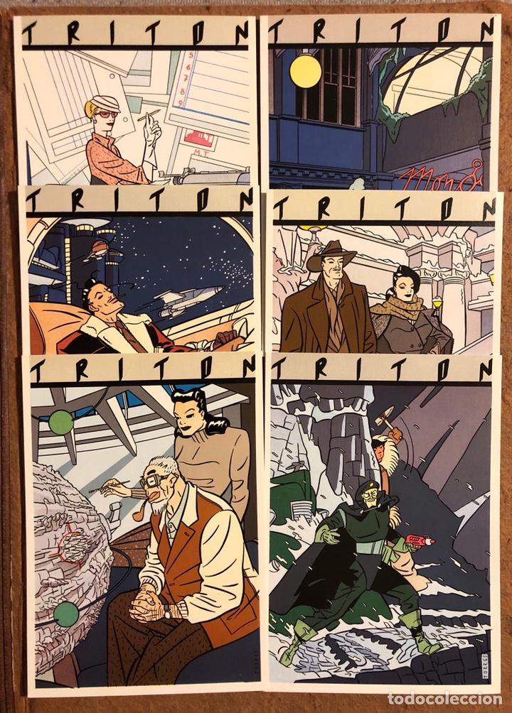 Postales: TRITÓN, POR DANIEL TORRES. CARPETA CON SERIE COMPLETA (6) POSTALES NORMA EDITORIAL 1984. - Foto 4 - 199335668