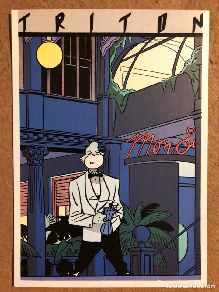 Postales: TRITÓN, POR DANIEL TORRES. CARPETA CON SERIE COMPLETA (6) POSTALES NORMA EDITORIAL 1984. - Foto 9 - 199335668